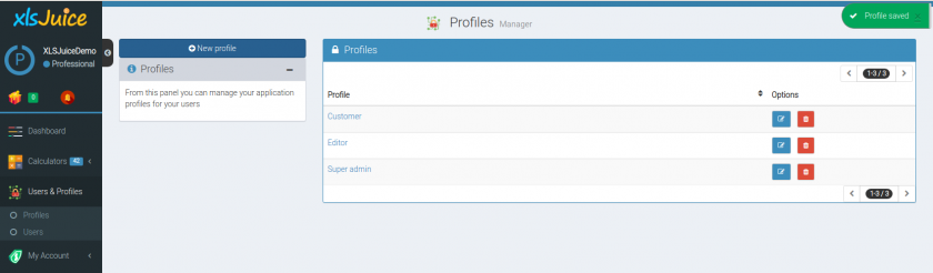 Users and profiles Plugin